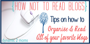 Tips on How to Not Read Blogs