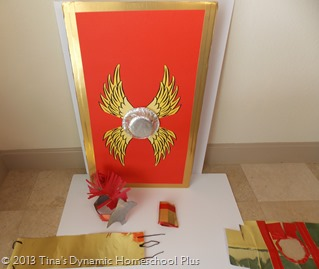 Kids Roman Shield from Cardboard