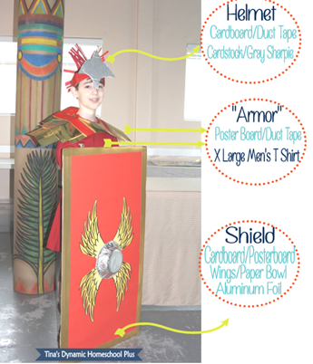 Easy Peazy Roman Kids Costume How To