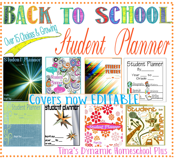 Student Planners and Covers Tina Dynamic Homeschool Plus thumb Free Student Planners   Covers now EDITABLE
