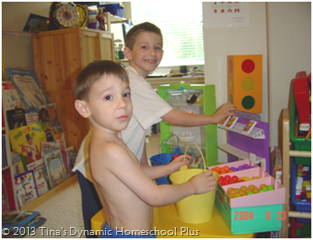 Include an area for fun hands-on homeschooling.