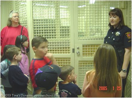 Field Trip for little ones to police station.