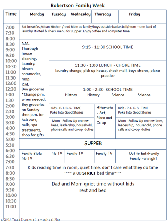 homeschool schedules with little ones