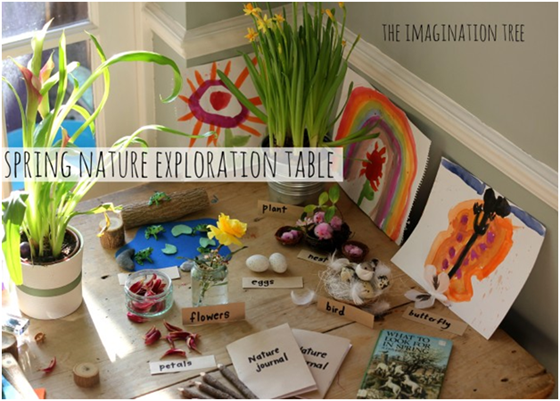 Idea for Spring Nature Exploration Table