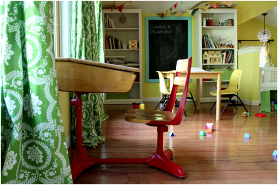 Homeschool room ideas.