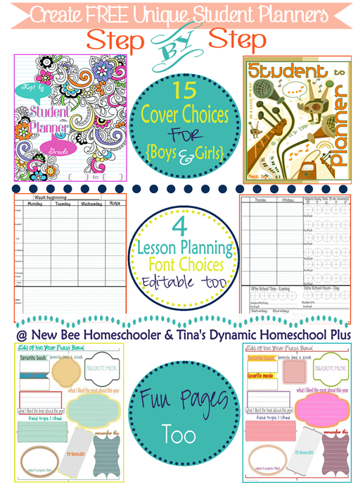 Create Free Unique Student Planners Tinas Dynamic Homeschool Plus thumb My Conundrum + Organized Student Planner