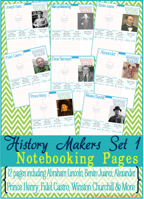 History Makers Set 1 Collage @ Tina's Dynamic Homeschool PLus