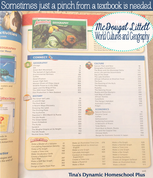 McDougal Littell World Cultures and Geography @ Tina's Dynamic Homeschool Plus