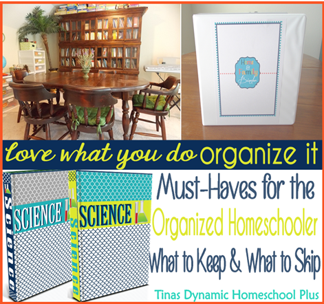 Must Haves for the Organized Homeschooler