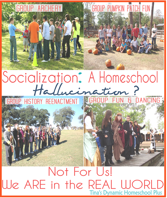 Socialization a Homeschool Hallucination @ Tina's Dynamic Homeschool Plus