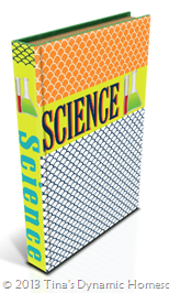 Student Binder Science 2 Cover from Tina's Dynamic Homeschool Plus