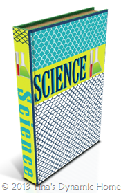 Student Binder Science Cover 1 from Tina's Dynamic Homeschool Plus