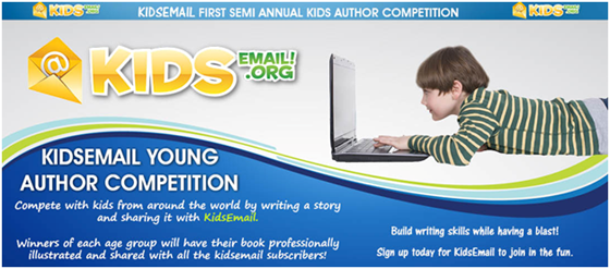 kids email young author competition