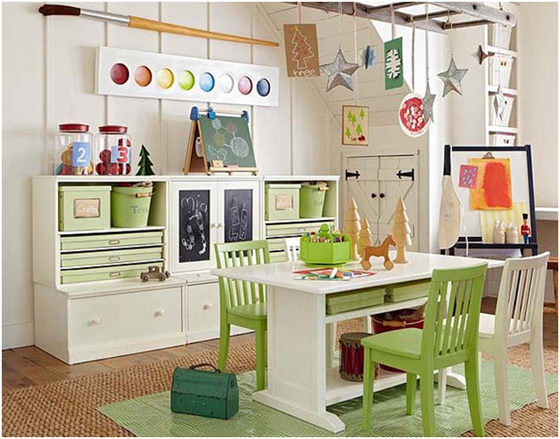 decorating ideas for garage turned family room - Day 11 Swoonworthy Learning Spaces & Homeschool Rooms
